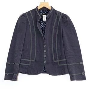 Marc Jacobs Military Style Blazer Floral Lining